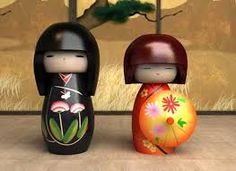 Image result for kokeshi dolls                              …