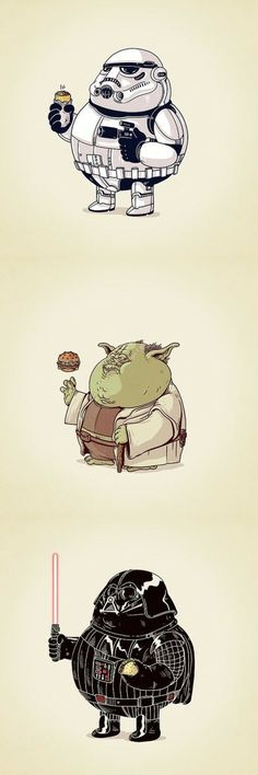 Fatty McFatty Star Wars /// by Alex Solis