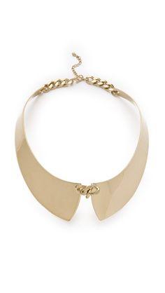 Adia Kibur Gold Collar (Shopbop, $50.00) - shiny, metal, chains, sleek, whimsical.