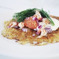 Thin hash brown with bleak roe   52 Delicious Swedish Meals You Need To Try Before You Die