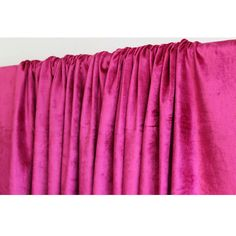 Hot Pink Fuchsia Velvet Curtain 52x84 Rod Pocket by TheHomeCentric