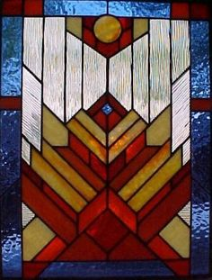 Art Deco Stained Glass Patterns | Southwestern Stained Glass -- Santa Fe Series Artworks