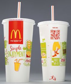 QR Code on a beverage cup
