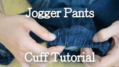 Excited to try this on a pair of slacks! I love the trendy look but don't want to spend $70 to get it! Jogger Pants Cuff Tutorial DIY