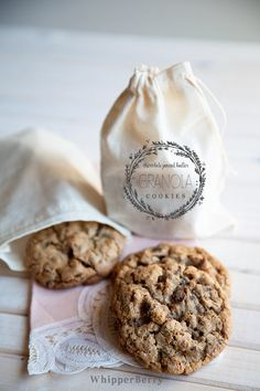 Chocolate Peanut Butter Granola Cookies from #whipperberry // Out of this world AMAZING!!  Packaging loved by staff at www.willowandstone.co.uk