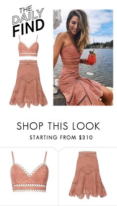 """""""Daily Find: Zimmermann Bralette & Skirt"""" by polyvore-editorial ❤ liked on Polyvore featuring Zimmermann, Intermix and DailyFind"""