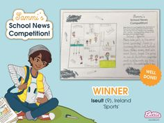 Congratulations to our Sammi School News Competition winners, whose entries featured in the Branksea school newspaper included with our Sammi doll. Steam Toys, School Newspaper, Newspaper Article, Sports Day, School S, Toys For Girls, Coloring Pages For Kids, Competition, Congratulations