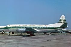 "Aer Lingus Vickers 808 Viscount EI-AKL ""St. Columba / Colmcille"" at Dublin-Collinstown, circa 1960s. (Photo: Malcolm Nason)"