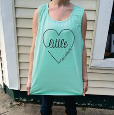 Big/Little/GBig/GGBig Sorority Script Heart Comfort Colors Tank Top
