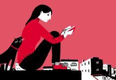 Leyendo poesia? (ilustración de Bernardo P. Carvalho)