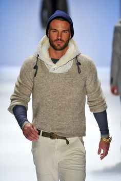 #Nautica FW13/14 - NYFW - Under the auspices of complete honesty:  if you look like THIS, I honestly couldn't care LESS what you were wearing.  A paper bag would work.  True story.