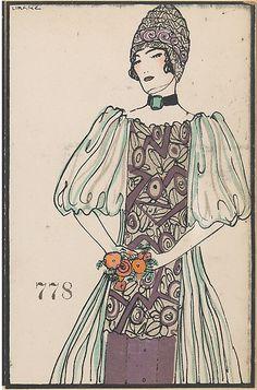 ca Maria Likarz fashion illustration published by Wiener Werkstätte. Art Deco Illustration, Vintage Illustrations, Fashion Illustrations, Mode Vintage, Vintage Art, Vintage Ladies, Charles Rennie Mackintosh, Fashion Prints, Fashion Art