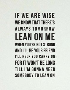 Lean on Me //Inspirational Quote // Art Print // by LADYBIRDINK,