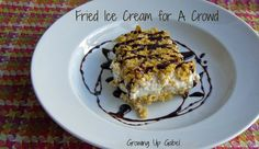 Fried Ice Cream for a Crowd (or fake fried ice cream!)
