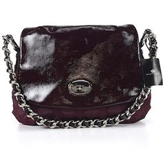 Pre-owned My Flat In London Shoulder Bag: Burgundy Women's Bags ($38) ❤ liked on Polyvore featuring bags, handbags, shoulder bags, burgundy, shoulder bag purse, handbags shoulder bags, man shoulder bag, shoulder hand bags and purple handbags