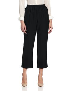 a2b0527987 Alfred Dunner Women's Proportioned Short Pants Black Size 12 for sale online