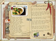 Great recipe and a beautiful recipe card as well!