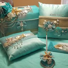 Claudia Fajardo added a photo of their purchase Homemade Pillows, Diy Pillows, Decorative Throw Pillows, Wedding Pillows, Ring Pillow Wedding, Bride Wine Glass, Window Grill Design, Wedding Mint Green, Cushion Cover Designs