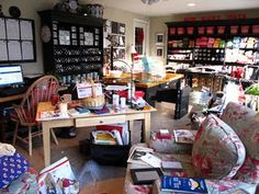 Looks a little cluttered, but wow this lady has some GREAT ideas!!!
