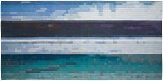 Wall hanging by Berthe Forchhammer, 'Vue', Wool, linen and monofilament, 150 x 300 cm.