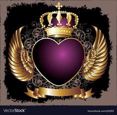 Royal crown vector image on VectorStock Crown Background, Photo Background Images, Photo Backgrounds, Wallpaper Backgrounds, Free Vector Images, Vector Free, Royal Logo, Design Art, Logo Design