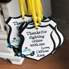 Have you checked out all the new items that have been added to the shop lately? These Cops and Robbers birthday themed party favor tags are… Birthday Themes For Boys, Sons Birthday, 4th Birthday Parties, Birthday Ideas, Cop Party, Police Party, Police Police, Fireman Party, Office Birthday