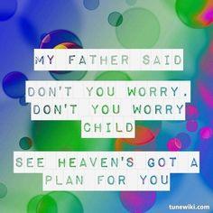 "Still some of my favourite lyrics ever!  -- #LyricArt for ""Don't You Worry Child (feat. John Martin)"" by Swedish House Mafia"