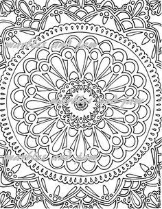 Mandala Coloring Page by MarblesAndJam on Etsy