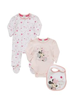 Clothing at Tesco | Disney Minnie Mouse 3 Piece Gift Set > sets > Hospital Bag Edit > Baby