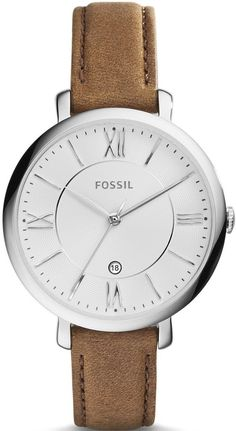 Fossil Watch Jacqueline Ladies #add-content #bezel-fixed #bracelet-strap-leather #brand-fossil #case-material-steel #case-width-36mm #date-yes #delivery-timescale-1-2-weeks #dial-colour-silver #fashion #gender-ladies #movement-quartz-battery #new-product-yes #official-stockist-for-fossil-watches #packaging-fossil-watch-packaging #style-dress #subcat-jacqueline #supplier-model-no-es3708 #warranty-fossil-official-2-year-guarantee #water-resistant-30m