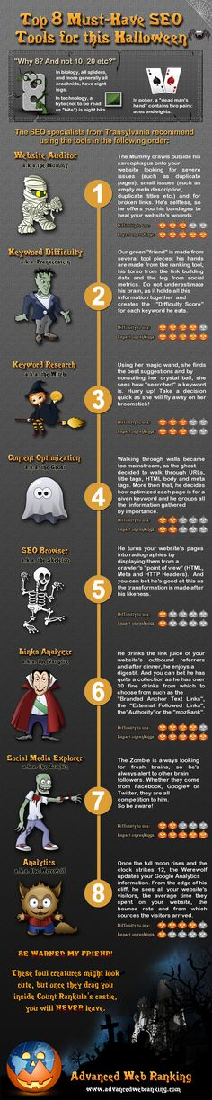 Top 8 Must-Have #SEO Tools for this #Halloween -  #infographic