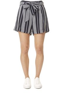 This is the 'Katy' Mediterranean Blue Striped Shorts by stunning brand Rails. Mid-rise, heavy linen, wide leg striped shorts featuring side pockets, removable self-tie belt, and front zipper closure. Leopard Dress, Pink Leopard, Tailored Shorts, Short Shorts, Striped Shorts, Summer Shorts, Yellow Dress, Clothing, Jackets