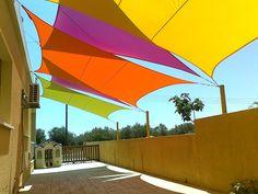 Sonnensegel Sonnenschutz Beschattung Wasserfest Gewebtes Rechteck Dreiek Quadrat in Garten & Terrasse, Gartenbauten & Sonnenschutz, Sonnensegel | eBay!