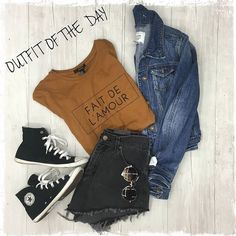 Loving this effortless outfit put together at our Harwood Heights location  We have a huge selection of statement tees denim shorts and sneakers to complete a perfect casual look!! http://ift.tt/2aIM9u2 - http://ift.tt/1HQJd81