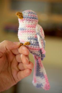 crochet bird 6. Pattern on english