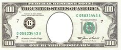 Money | Festisite: Make personilized money. Can use $100 for 100 day of school.