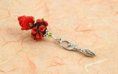 Blessingway bead  Red Rose Love Goddess  Mother Blessing by veddma