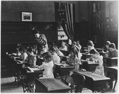 1899, Painting Class in a School Room by Frances Benjamin Johnston