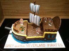 "Friends of ours asked for a sheet cake themed from the Disney Channel show ""Jake and the Neverland Pirates"", but with their son's name instead of Jake's. Description from theozingaoutlook.blogspot.com. I searched for this on bing.com/images"