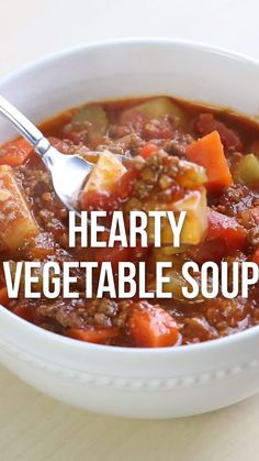 One-pot Hearty Vegetable Soup. Easy to make, healthy and completely delicious! #fall #fallrecipes #soup #souprecipes #easy #healthy #easyrecipes #healthyrecipes #recipevideo #recipe #iheartnaptime Hearty Vegetable Soup, Vegetable Soup Recipes, Beef Recipes, Vegetarian Recipes, Cooking Recipes, Healthy Recipes, Bob Evans Vegetable Soup Recipe, Hearty Soup Recipes, Onion Vegetable