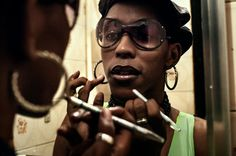 Photo: Vincent Rosenblatt  Lacraia (or Centipede), a dancer famed for her duo work with M.C. Serginho, from the favela Jacarézinho, applied makeup before entering the ...