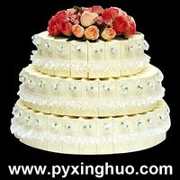 gift boxes in wedding cake shape