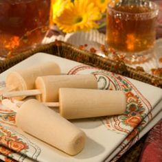 Dulce De Leche Tea Pops ~ INGREDIENTS: Boiling water - Lipton® Vanilla Caramel Truffle Pyramid Tea Bags - Sugar - Half and half