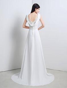 Trumpet/Mermaid Sweetheart Sweep/Brush Train Wedding Dress – USD $ 79.99