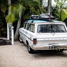 classic holden station wagon with surfboards on top - Atlantic Byron Holden Australia, Australian Cars, Australian People, Australian Vintage, Surf Shack, Biarritz, Roadtrip, Sunshine Coast, Station Wagon