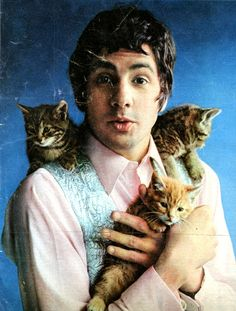 Cat Stevens, singer-songwriter who disappeared, then came back (yay) and cat lover.