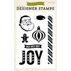 Echo Park Paper-Stamp Set. Make an impression with these beautiful stamps! These clear, photopolymer designer stamps are of the highest quality. For use with acrylic stamping blocks and stamping ink (not included). This package contains seven clear stamps on one 5-3/4x4 inch backing sheet. Design: Joy. Made in USA.