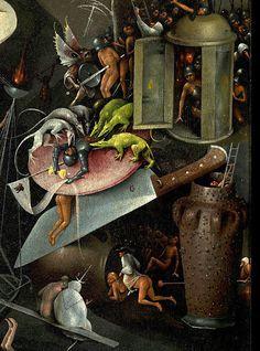 Hieronymus Bosch (Jeroen van Aken, ca The Garden of Earthly Delights, triptych (ca Caravaggio, Hieronymus Bosch Paintings, Garden Of Earthly Delights, Art Optical, Dutch Painters, Renaissance Art, Surreal Art, Animal Design, Art History