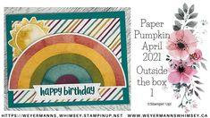 Pumpkin Cards, Paper Pumpkin, Birthday Cards, Happy Birthday, Pumpkin Ideas, April 21, Stamping Up Cards, Handmade Cards, Pumpkins