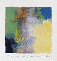 Apr. 16 2017 Original Abstract Oil Painting 9x9 painting
